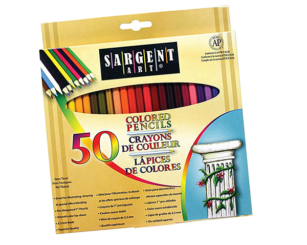 Sargent Art Colored Pencils for Adult Coloring Books