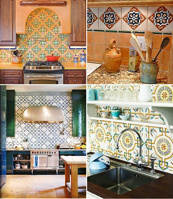 Patterned Tile Kitchen Backsplashes