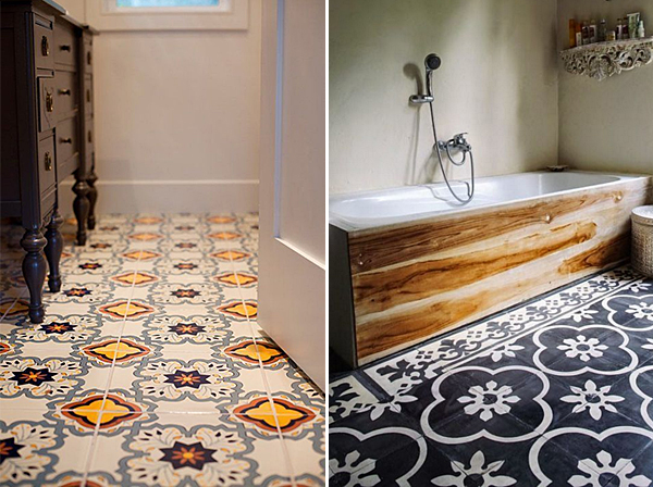 Trend Bold Tiles on Bathroom Floors