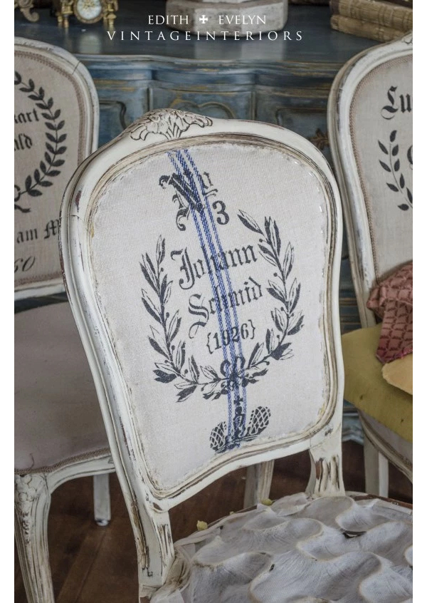 Cedar Hill Farmhouse Stenciled Chair Backs