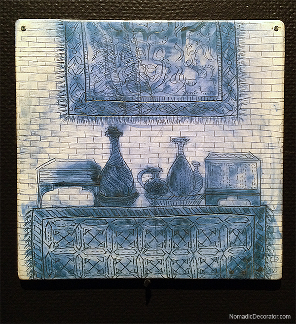 Cristina Bolborea Tile at Lisbon National Tile Museum