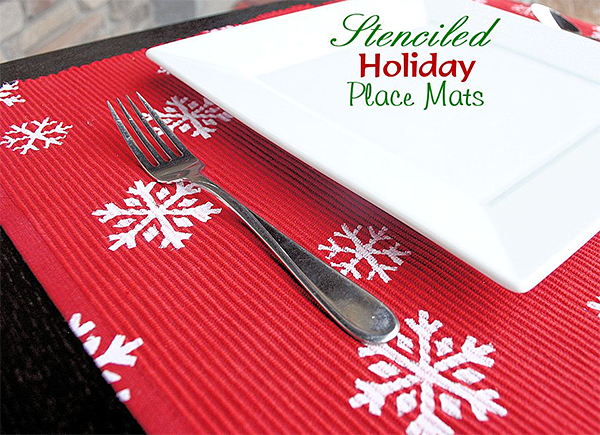 Cute Little Projects Blog - Stenciled Holiday Placemats