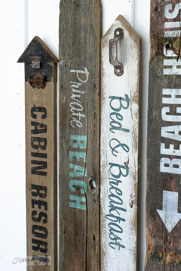 Funk Junk Interiors Stenciled Beach Signs