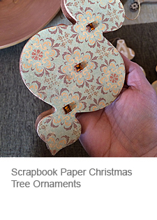 DIY Scrapbook Paper Christmas Tree Ornament