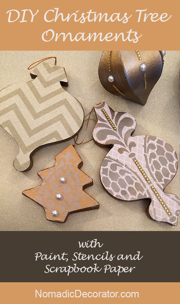 Stenciled Christmas Tree Ornament Tutorial