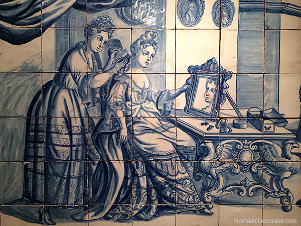 Tile Mural at the National Tile Museum Lisbon