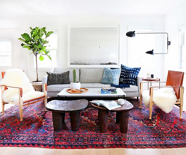 African Stools Amber Interiors Design via Domaine