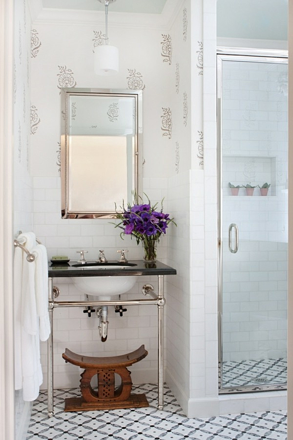 Ashanti Stool in Bathroom