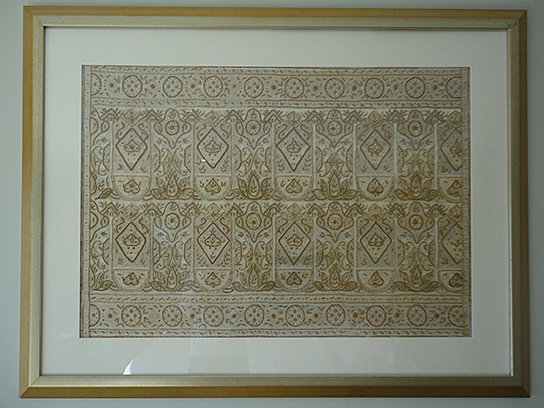 Framed Antique Saree Fabric from Doesnt Cost the Earth Blog