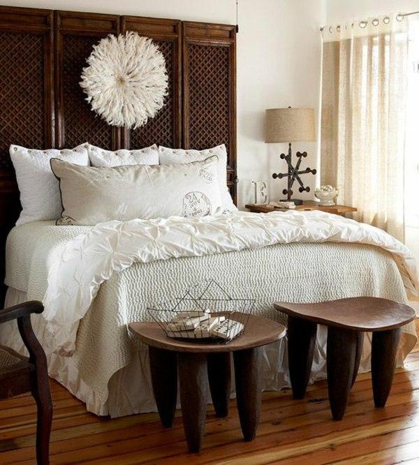 Senufo Stools at foot of bed