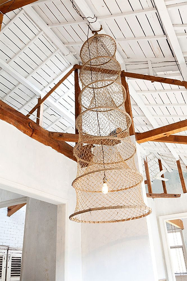 Fishing Basket Pendant Light via The Selby