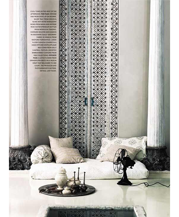 India pied-a-terre Master Bedroom Wall Inspiration