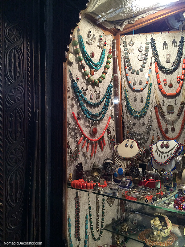 Beaded Necklaces in Marrakech Souks