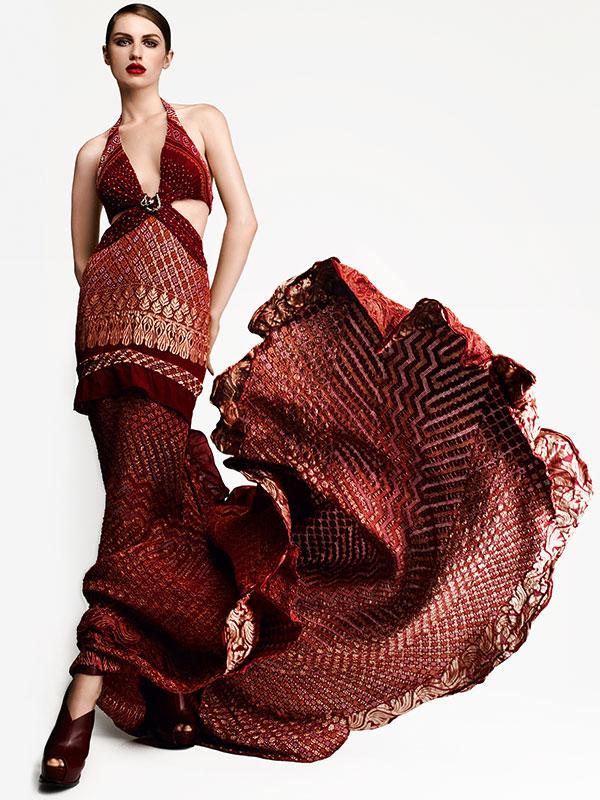 Roberto Cavalli Bandhini Fabric