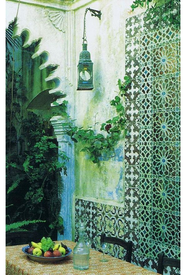 Moroccan Tiles in Tangier via World of Interiors