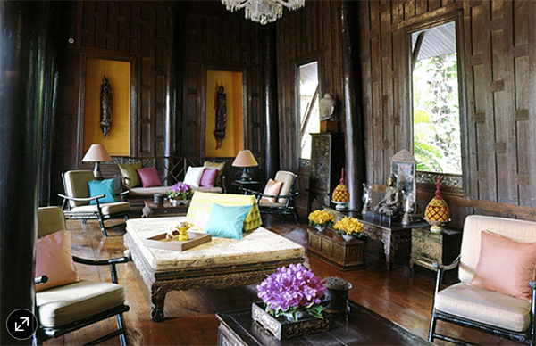 Jim Thompson House Wall Niches WSJ