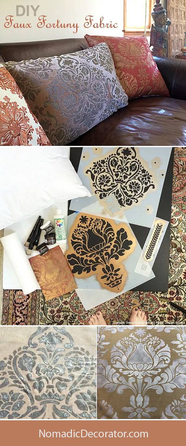DIY Faux Fortuny Fabric