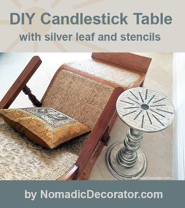 DIY Candlestick Table Tutorial
