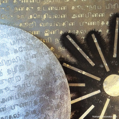Tamil Script and Surya Stencil