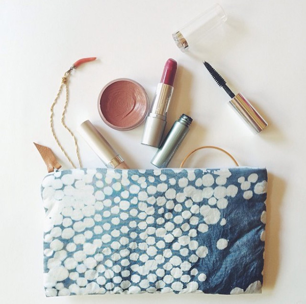 Makeup Pouch with Uncommon Goods Indigo Dye Kit