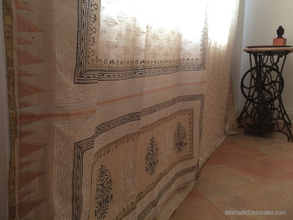Saree Curtain and Vintage Singer Sewing