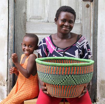 Baba Tree Basket from Ghana