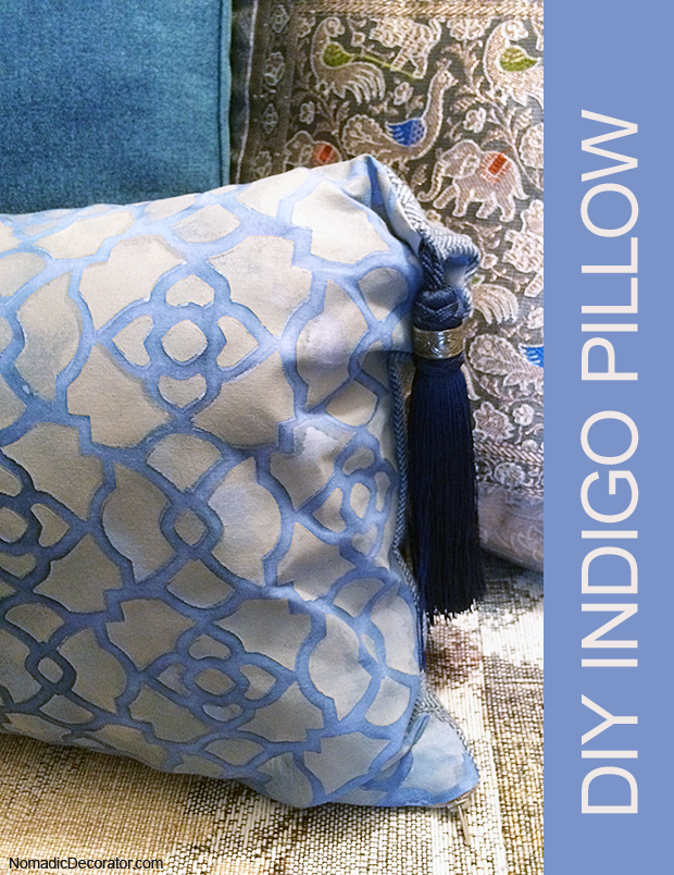 DIY Indigo Pillow