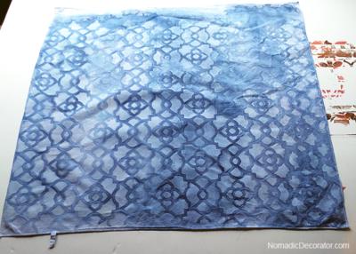 Indigo Dye Pillow Fabric