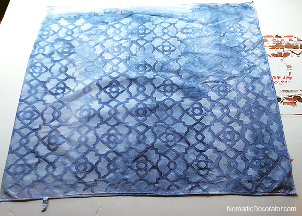 Indigo Dye Pillow Fabric
