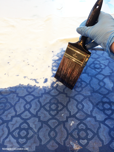 Painting with Indigo Dye