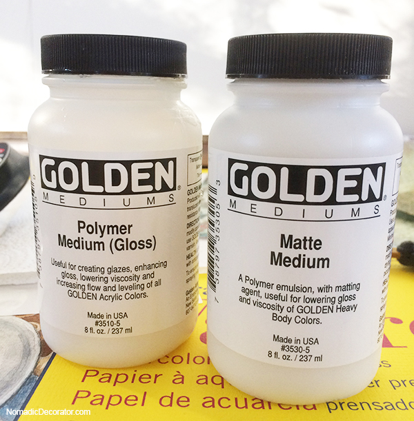 Golden Polymer Medium Gloss and Matte for Decoupage