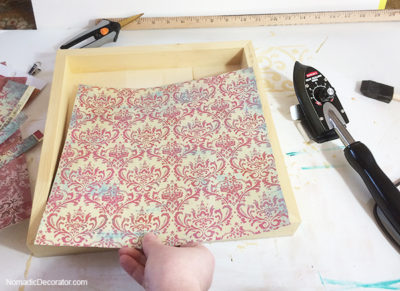 Placing Paper on Substrate