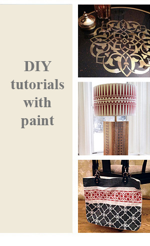DIY Projects with Stencils and Paint