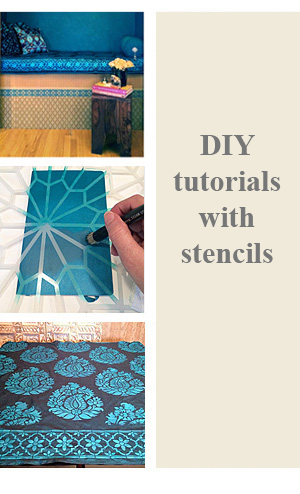DIY Tutorials with Stencils and Paint