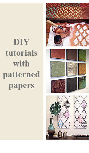 DIY Project Tutorials with Scrapbook Papers