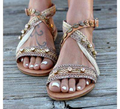 Dimitras Workshop Etsy Shop Neutral Blingy Sandals