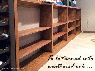 Shelves to paint like weathered oak