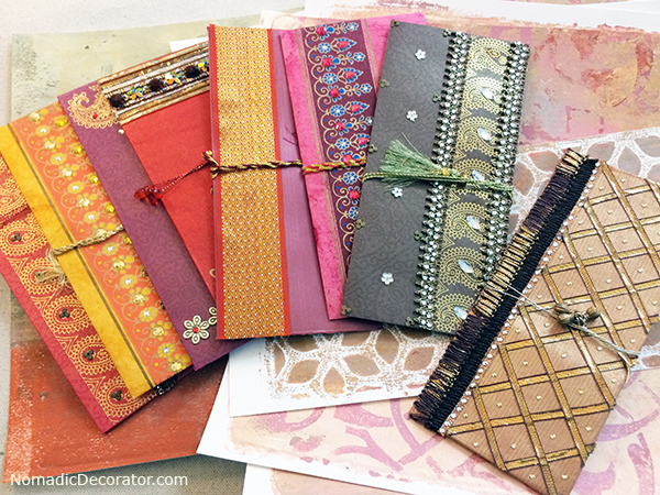 Embellished Cards From India