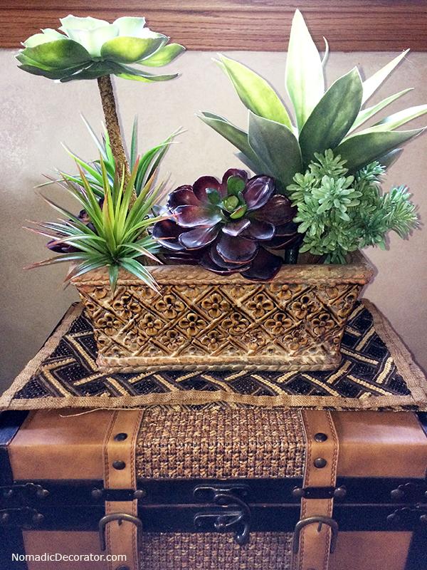 Succulents in Ceramic Planter