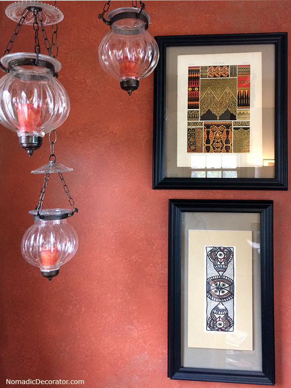 Terra Cotta Wall and Hundi Lanterns