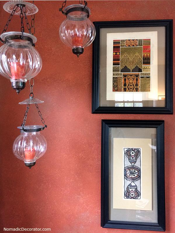 Terra Cotta Wall and Hundi Lanterns