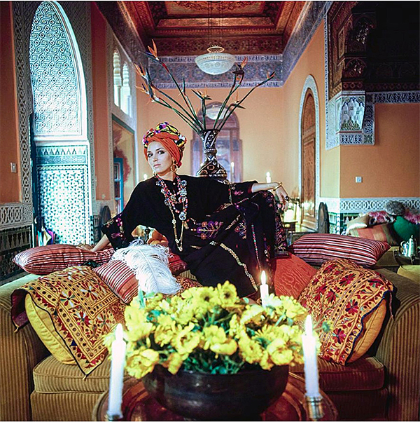 Talitha Getty in Palais du Zahir