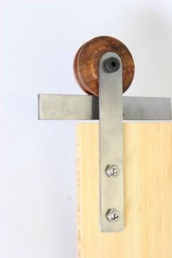 Wood and Metal Barn Door Hardware