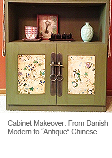 DIY Cabinet Makeover Antique Chinese Style