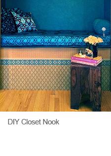 DIY Indian-Inspired Closet Nook