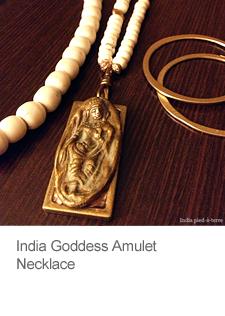 DIY India Goddess Amulet Necklace