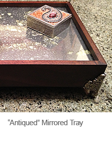 DIY Mirrored Tray with Krylon Looking Glass Paint