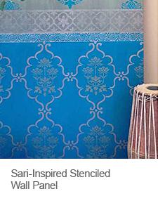 DIY Sari Inspired Stenciled Wall Art