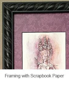 DIY Scrapbook Paper Picture Frame Matt