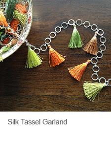 DIY Boho Chic Silk Tassel Garland